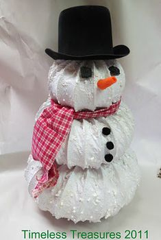 Dryer vent hose Snowy Snowman Tutorial