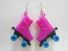 Vintage Quad Roller Skate 80s Earrings by SHOPHULLABALOO on Etsy, $8.99