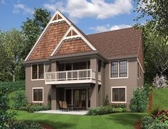 Rear Rendering of Mascord Plan 1221CC - The Newmarket