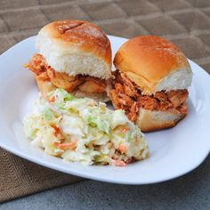 Slow Cooker Buffalo Chicken Sandwiches (Crockpot) recipe | BigOven