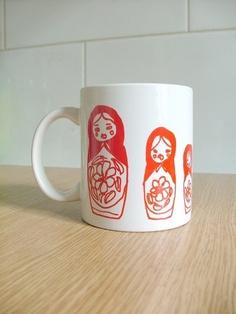 nesting doll mug. love.