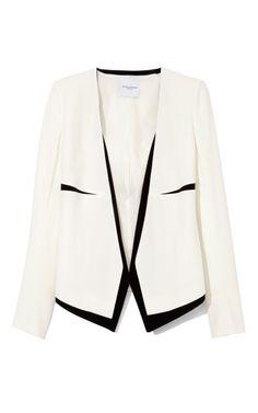 Narciso Rodriguez White And Black Sable Jacket