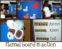 How to make your own felt board (this one is made from a magnet board and thus is dual purpose)