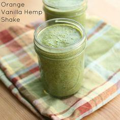 Vegan orange and vanilla hemp shake.
