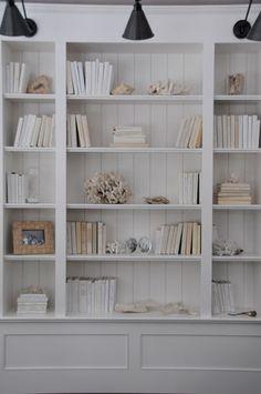 White shelving display done beautifully