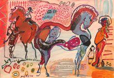 "Merello.-""Horses in Red"""