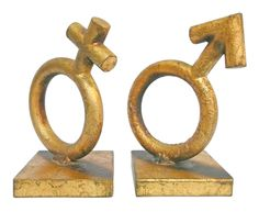 """Mars"" and ""Venus"" Bookends by Jere at 1stdibs"
