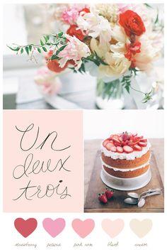 Color Palette: Strawberry + Cream