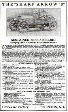1909 Sharp Automobile Advertisement