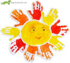 Hand print sun