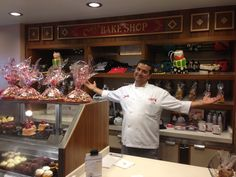 Buddy at the Carlo's Bakery on board the Norwegian Breakaway ship!