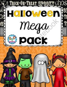 Halloween Mega Pack! Reading Comprehension, Writing and Math Activities! from Create abilities on TeachersNotebook.com -  (100 pages)  - Halloween Mega Pack! Reading Comprehension, Writing and Math Activities!