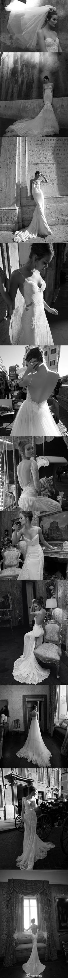 Inbal Dror.  I'll take any if these! lace, wedding dressses, dream dress, backless dresses, weddings, bridal portraits, wedding gowns, the dress, bride poses