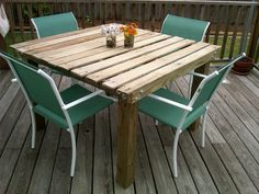 Based on other Pinterest DIY pins, I now have my pallet porch table.  Turned out great!  Thanks for the ideas  :)