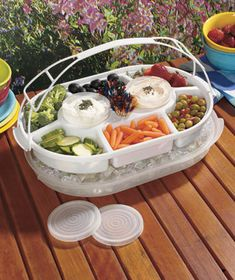 Food Savers Product | Food Saver Portable Picnic & Party Servers Red or White