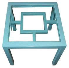 Turquoise Indoor/Outdoor Side Table -$373.