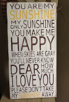 You are My Sunshine primitive sign, family rules