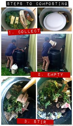 Composting is an easy responsibility for kids and a great way to teach them about earth science as well as reducing waste.
