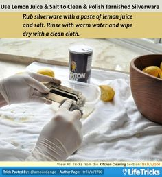 Kitchen Cleaning - Use Lemon Juice and Salt to Clean and Polish Tarnished Silverware