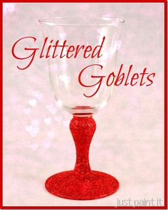 How to glitter goblets using paint, glitter & seal with Sparkle Mod Podge