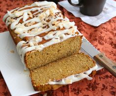 Sherry Favorite ~ Pumpkin Coconut Bread. For me, needs to be a little sweeter to loose the I'm eating health food taste. Next time, use Truvia instead of just Erythritol. Or just add another 5 drops of liquid stevia?