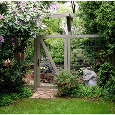 Front Yard Fences Design, Pictures, Remodel, Decor and Ideas - page 11perfect garden fence. I like that the fence wiring doesn't obstruct everything.