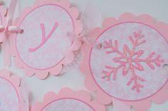 Winter Princess Birthday Tags