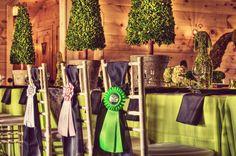 English style equestrian wedding table setting