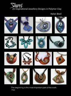 Shapes eBook by Helen Breil, 180 pages.   now available for $20 at http://www.helenbreil.com/Shapes_Book.php  - If you aren't familiar with Helen's texture sheets or tutorials, you are in for a treat. #polymer #clay #tutorial