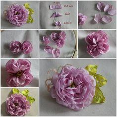 DIY Fabric Rose Brooch  https://www.facebook.com/icreativeideas