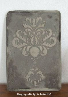 How to add Raised Stencil Details to Concrete Castings.