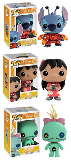 Lilo & Stitch Funko Pop Figures Are Coming Soon The next Disney characters Funko is touching with their magic wand of cuteness are from Lilo & Stitch! They're releasing three Pop! vinyl figures featuring Stitch 626, Lilo (she comes with a camera to capture photos of tourists), and Scrump. Read more at http://nerdapproved.com/toys/lilo-stitch-funko-pop-figures-are-coming-soon/#B4FPU4KVpx1Luhlu.99