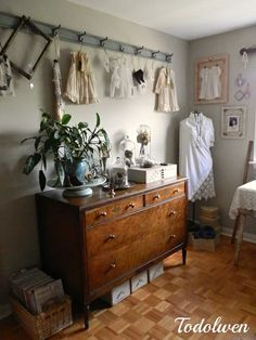 Way to display my vintage christening gown etc? (Todolwen (new): Where Bloggers Create 2014)