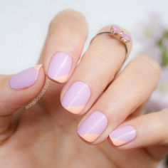 Simple and Easy Nail for Spring- sorbet colors!