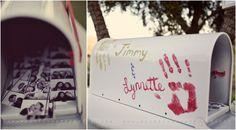 Wedding Mailbox Card Holder, so cute!