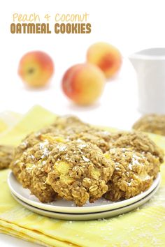 Peach and Coconut Oatmeal Cookies-delicious and healthy cookies perfect for peach season! // thehealthymaven.com #glutenfree