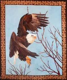 Where Eagles Soar by Rosalie Baker.  Inspired by a photograph by Ron Hodgson, Where Eagles Soar. Photo by Sue Garman: August 2011