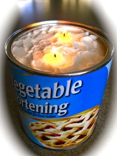 Easy to Make Emergency Preparedness Candle!
