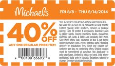 Michaels #coupon