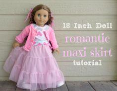 Domestic Bliss Squared: 18 inch doll romantic maxi skirt tutorial