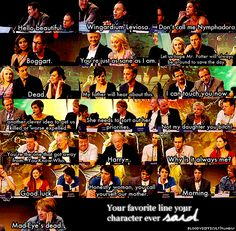 "Harry Potter Cast - ""Your favorite line your character ever said."""
