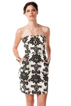 Loretto Strapless Dress | Francesca's Collection $54