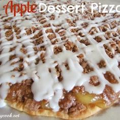 Easy Apple Dessert Pizza. Ooh like the kind at pizza hut!