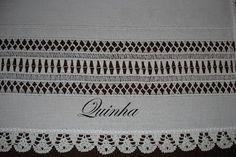 vainica, cross stitch, da quinha, melissa stitch, bordado, aberta da, azourdrawn thread, bainha aberta, embroideri