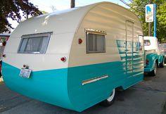 vintage trailers, dream, truck, road trips, travel trailers