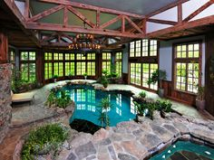 an indoor pool in Greenwich, Connecticut