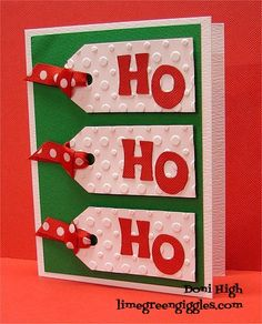 WT394 Ho Ho Ho by donidoodle - Cards and Paper Crafts at Splitcoaststampers