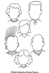 Printable doodle pages - -very fun and keeps kids busy.