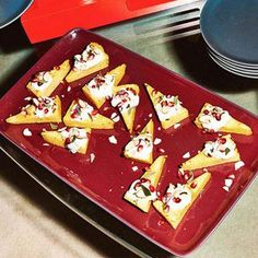 Holiday Appetizer: Polenta-Pomegranate Wedges