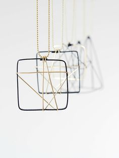 Scandinavian Inspired Wire Christmas Ornaments